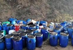 54 bidon atık yağ araziye bırakılmış halde bulundu
