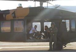 Beytüşşabapta kalp krizi geçiren hasta, askeri helikopterle taşındı