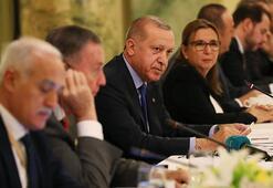 Cumhurbaşkanı Erdoğan ABDde iş insanları ile bir araya geldi