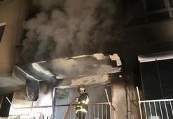 Ankarada yangın... Alevlerin arasında kalınca aşağı atladı