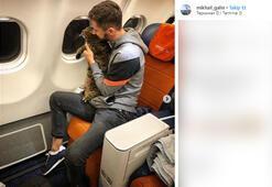 Kedisini uçağa gizlice sokunca...