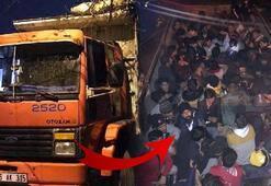 Pes artık Koyun var dedi kasadan 69 göçmen çıktı