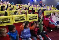 Siirtte çocuklar sinemayla buluştu