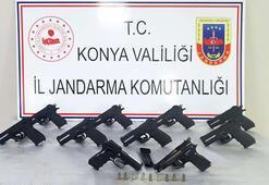 Beyşehirdeki operasyonda 10 tabanca ele geçirildi