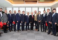 Beşiktaş yönetimi, TFF Başkanı Özdemiri ziyaret etti