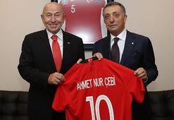 Başkan Çebi, TFF Başkanı Özdemiri ziyaret etti