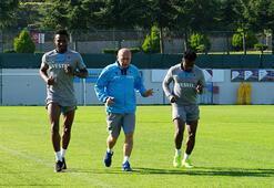 Trabzonsporda Obi Mikel, Onazi ve Ekuban özel çalıştı