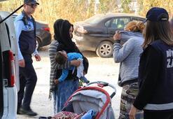 Bebekli dilencilere operasyon Yakalandılar