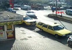 Otomobilin kadına çarpma anı güvenlik kamerasında