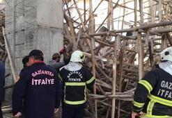 Gaziantep'te cami inşaatında çökme 1 işçi enkaz altında
