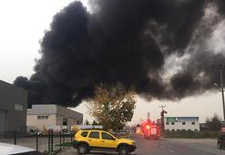 Sakaryada, geri dönüşüm fabrikasında yangın
