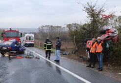 Tekirdağda yağış kaza getirdi: 2 ölü, 3 yaralı