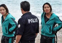 Kazak kadın, polis ve sağlık ekiplerine zor anlar yaşattı