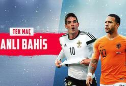 Kuzey İrlanda - Hollanda maçı Canlı Bahis, yüksek oranlar ve birçok yeni bahis türüyle Misli.com'da