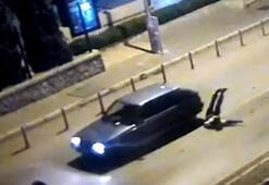 Dur ihtarına uymayan sürücü, polisi 400 metre arabasının kaputunda taşıdı