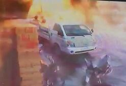 El Babda meydana gelen bombalı saldırı kamerada
