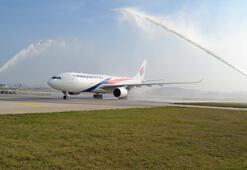 Sabiha Gökçene ilk uzun mesafeli uçuş gerçekleştirildi