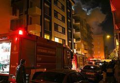 İstanbulda yangın... Çatı katı alev alev yandı
