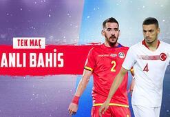Andorra - Türkiye maçı canlı bahisle Misli.comda