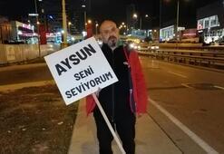 Eşiyle barışabilmek için Ankara'ya yürüyor