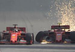 İki Ferrari birbiriyle çarpıştı