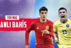 İspanya-Romanya maçı canlı bahis seçeneğiyle Misli.comda