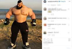 İranlı Hulktan çaprıcı karar Çıplak ellerle...
