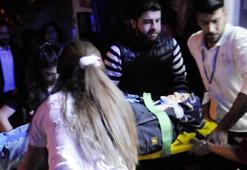 Motosikletle genç kadına çarpıp, kaçtı
