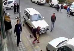 Tırnakçılık yaparken fark edilen kadın, sokak ortasında soyundu