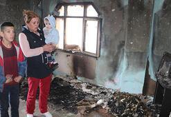 Yangın çıkan evdeki 4 çocuk komşuları tarafından kurtarıldı