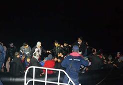 Balıkesirde 90 kaçak göçmen yakalandı