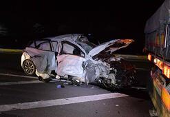 TIR ile otomobil çarpıştı: 1 ölü, 2 yaralı