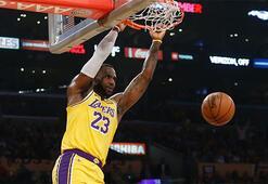 Lebron rekor kırdı, Lakers kazandı: 112-107