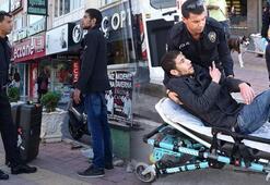 İranlı turist, cansız manken gibi bekleyince hastaneye götürüldü