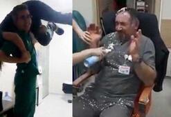 Hastane çalışanlarından pes dedirten eğlence
