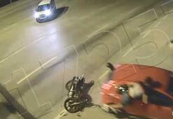 Motosikletli sürücüler ölümden döndü