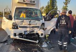 Mardinde kamyonet, özel halk otobüsü ile çarpıştı: 1 yaralı