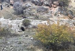 Teröristlerce mağaraya yerleştirilen patlayıcı imha edildi