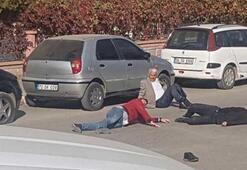 Adliye önünde kanlı kavga Ölü ve yaralılar