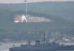 Bulgar savaş gemisi Verni Çanakkale Boğazından geçti