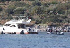 Karaya oturan motoryatta 35 düzensiz göçmen yakalandı