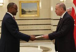 Cumhurbaşkanı Erdoğan, Zimbabve Büyükelçisini kabul etti