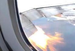 Yolcu uçağında güm, güm seslerini alevler izledi