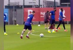 Messi antrenmanda şov yaptı