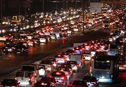 İstanbulda trafik yoğunluğu Yüzde 76ya ulaştı