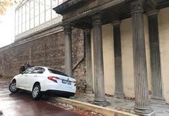 Dolmabahçe Sarayı önünde ilginç kaza