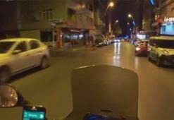 Motosikletliler ölümden kıl payı kurtuldu
