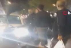 Fatih'te sürücü ile motosiklet sürücüsü arasında yol kavgası