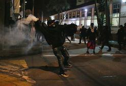 Hükümet karşıtı protestolarda 1 polis ağır yaralandı