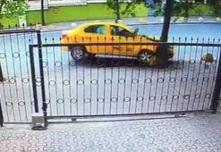 Ticari taksi ağaca böyle çarptı